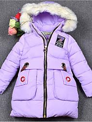 Mädchen Bluse einfarbig Druck Polyester Winter Lange Ärmel Normal