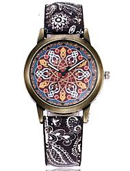 preiswerte -Damen Modeuhr Quartz Armbanduhren für den Alltag Echtes Leder Band Elegant Schwarz Blau Rot Orange Grün
