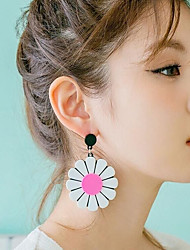 cheap -Women's Kid's Stud Earrings Acrylic Personalized Cute Style China Flower Jewelry Yellow Pink Casual Club Costume Jewelry