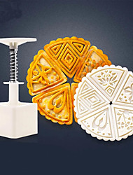 cheap -6Pcs Set Moon Cake Mold Flower Mould 50g Cake Biscuit Dessert Mold Baking Tool