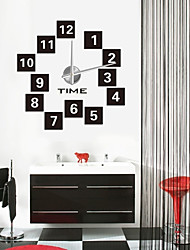 "cheap -Modern/Contemporary Country Casual Office/Business Others Asian Theme Classic Theme Abstract Wall Clock,1 ¼"" Square EVA Stainless steel"