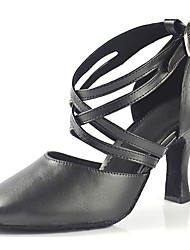 "cheap -Women's Modern Leatherette Sandal Heel Professional Buckle Customized Heel Black 1"" - 1 3/4"" 2"" - 2 3/4"" 3"" - 3 3/4"" 4"" & Up Customizable"