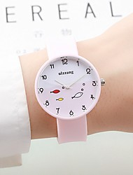 cheap -Women's Couple's Fashion Watch Chinese Quartz / Silicone Band Candy color Casual Elegant Black White Green Pink Navy