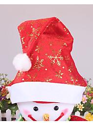 1PCS Snowflakes Printed Christmas Hats for New Year Gift Christmas Decoration Ramdon Color