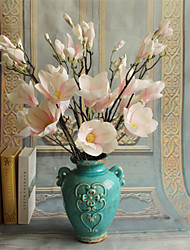 abordables -4 têtes / branche européenne magnolia fleur fleurs artificielles décoration de la maison de mariage