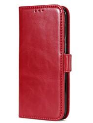 Недорогие -Кейс для Назначение SSamsung Galaxy S8 Plus S8 Бумажник для карт Кошелек со стендом Флип Магнитный Чехол Сплошной цвет Твердый Настоящая