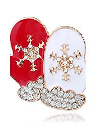 cheap -Women's Brooches Fashion Chrismas Rhinestone Alloy Jewelry For Christmas Street