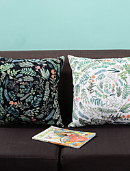 1 pcs Cotton Pillow Cover,Botanical printing Letter & Number Patterned Style Tropical