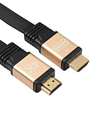 baratos -cwxuan hdmi para hdmi 2.0 4k 3d cabo para hd tv lcd laptop ps3 projetor computador 1.8m (6ft)