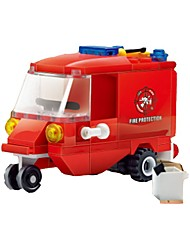 Недорогие -Конструкторы Наборы для моделирования Пожарная машина Игрушки Грузовик Мягкие пластиковые 1 Куски Подарок