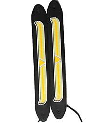 2 pcs cob voiture-style double couleur lumières led voiture drl diurne lumière flexible super lumineux bendable inversion lampe dc12v