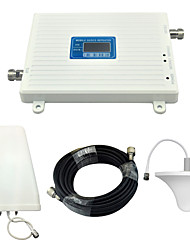 cheap -Mobile Phone Signal Booster 3G W-CDMA 2100mhz DCS 4G 1800mhz Signal Repeater with Ceiling Antenna / Log Periodic Antenna / White / Full Set