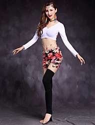 cheap -Shall We Belly Dance Outfits Women's Training Modal Spandex Long Sleeve Dropped Skirts Tops