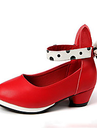 Fille Chaussures Polyuréthane Printemps Chaussures de Demoiselle d'Honneur Fille Chaussures à Talons Pour Décontracté Blanc Noir Rouge