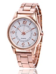 Недорогие -Муж. Жен. Спортивные часы Модные часы Повседневные часы Китайский Кварцевый Металл Группа Серебристый металл Золотистый Розовое золото