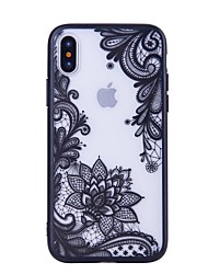 Недорогие -Кейс для Назначение Apple iPhone X iPhone 8 С узором Кейс на заднюю панель Кружева Печать Твердый ПК для iPhone X iPhone 8 Pluss iPhone 8