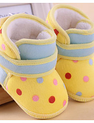 Baby Shoes Cotton Fall Winter First Walkers Boots For Casual Blue Coffee Fuchsia Yellow