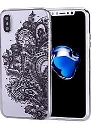 preiswerte -Hülle Für Apple iPhone X iPhone 8 iPhone 8 Plus Muster Rückseitenabdeckung Blume Weich TPU für iPhone X iPhone 8 Plus iPhone 8 iPhone 7