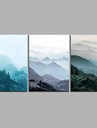 preiswerte -Berg 3-teilig moderne Kunstwerke Wandkunst für Raumdekoration 20x28inchx3