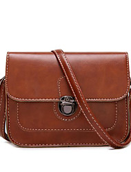 Women Bags All Seasons PU Shoulder Bag Pockets for Casual Dark Brown Red Black