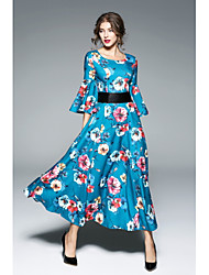 abordables -Mujer Corte Swing Vestido Floral Maxi