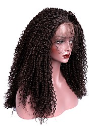 Women Synthetic Wig Lace Front Long Kinky Curly Dark Brown With Baby Hair Halloween Wig Long Natural Wigs Costume Wig