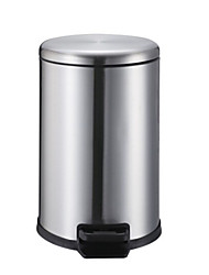 High Quality Kitchen Living Room Bathroom Waste Bins,Stainless Steel + A Grade ABS