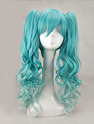 cheap -Synthetic Hair Wigs Curly With Ponytail Capless Carnival Wig Halloween Wig Lolita Wig Cosplay Wig Long Green