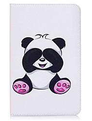 preiswerte -Hülle Für Samsung Galaxy Ganzkörper-Gehäuse Tablet-Hüllen Panda Hart PU-Leder für Tab E 9.6