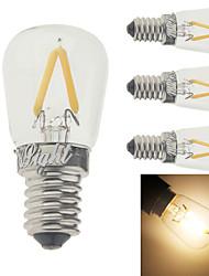 2W E14 LED Filament Bulbs G60 2 leds COB Decorative Warm White 150-200lm 3000K AC 220-240V