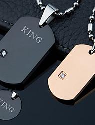 Недорогие -Персональный подарок Ожерелье Стразы Титановая сталь Для пары Простой Геометрия Природа Классический Пара обуви Мода Подарок Модерн