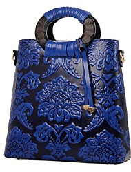 cheap -Women's Bags Cowhide Shoulder Bag Zipper for Wedding Event/Party Casual Formal Office & Career All Seasons Blue Red Dark Green