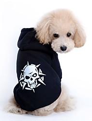 Perro Sudadera Ropa para Perro Casual/Diario Mantiene abrigado Halloween Cráneos Rojo Negro Disfraz Para mascotas