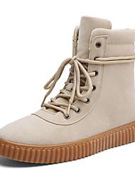 Недорогие -Для мужчин обувь Осень Удобная обувь Топ-сайдеры для Повседневные Черный Серый Коричневый