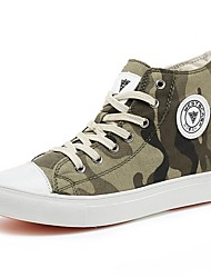 cheap -Women's Shoes Canvas Winter Fall Light Soles Vulcanized Shoes Sneakers Round Toe for Casual Outdoor Gray Army Green