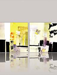 preiswerte -Gerollte Leinwand Abstrakt, Zwei Panele Segeltuch Quadratisch Druck Wand Dekoration Haus Dekoration