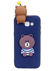 preiswerte -Hülle Für Samsung Galaxy A5(2017) A3(2017) Muster Heimwerken Rückseite 3D Zeichentrick Cartoon Design Weich TPU für A3 (2017) A5 (2017)