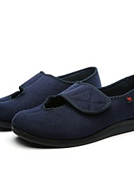 cheap -Men's Shoes Wool Spring Fall Comfort Loafers & Slip-Ons Magic Tape for Casual Black Dark Blue