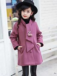 Girls' Solid Jacket & Coat,Cotton Nylon Fall Winter Long Sleeve
