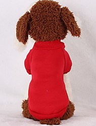 cheap -Dog Hoodie Sweatshirt Dog Clothes Casual/Daily Solid Black Red Pink Light Blue Costume For Pets