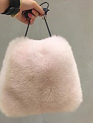 cheap -Women Bags Fur Tote Feathers / Fur for Event/Party Casual Winter Dark Gray Beige Purple Coffee Wine