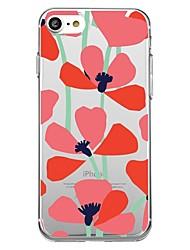 Недорогие -Кейс для Назначение Apple iPhone X iPhone 8 С узором Кейс на заднюю панель Цветы Мягкий ТПУ для iPhone X iPhone 8 Pluss iPhone 8 iPhone 7