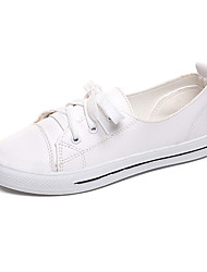 Women's Sandals Comfort PU Spring Summer Casual Dress Comfort Split Joint Wedge Heel White Black 3in-3 3/4in