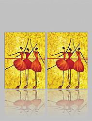 preiswerte -Gerollte Leinwand Abstrakt, Zwei Panele Segeltuch Horizontal Druck Wand Dekoration Haus Dekoration