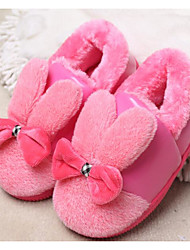 cheap -Girls' Shoes Fleece Winter Fall Fluff Lining Comfort Slippers & Flip-Flops for Casual Dark Blue Purple Pink Khaki