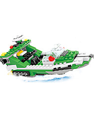 cheap -AUSINI Building Blocks 300pcs Nautical / Military / Ship Helicopter Boys' Gift