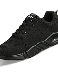 cheap -Men's Shoes Tulle Spring Fall Comfort Athletic Shoes Running Shoes Lace-up For Athletic Casual Black/White Blue Black