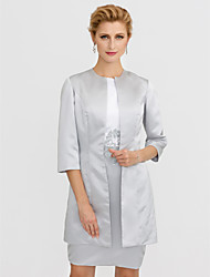 cheap -3/4 Length Sleeves Satin Wedding Party / Evening Women's Wrap Coats / Jackets