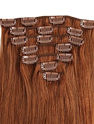 cheap -Clip In Human Hair Extensions 8Pcs/Pack 70g/pack Dark Auburn Light Blonde Medium Brown Strawberry Blonde/Light Blonde Medium Brown/Bleach