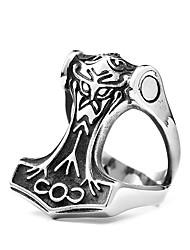 preiswerte -Herrn Anderen - Kreisform Personalisiert / Modisch Silber Ring Für Alltag / Normal